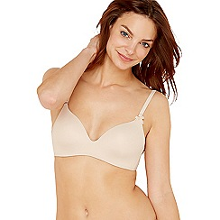 Sloggi - Natural 'Wow Comfort' non-wired padded t-shirt bra