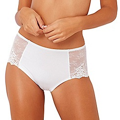 The Collection - White lace 'Nicola' seamless full brief knickers