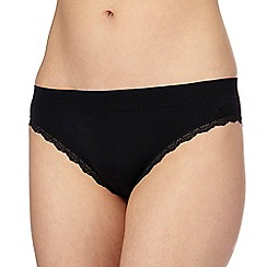 The Collection - Black floral lace bikini knickers
