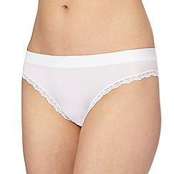 The Collection - White floral lace bikini briefs