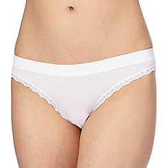 The Collection - White floral lace thong