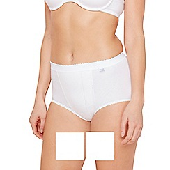 Sloggi - Pack of two white control maxi briefs