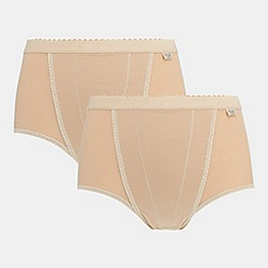 Sloggi - Pack of two natural control maxi briefs