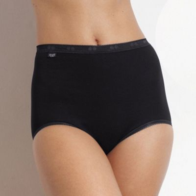 Pack of four black maxi briefs