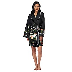 B by Ted Baker - Black floral print 'Secret Trellis' kimono