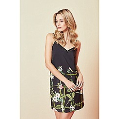 B by Ted Baker - Black floral print 'Secret Trellis' chemise