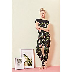 B by Ted Baker - Black floral print 'Secret Trellis' pyjama top