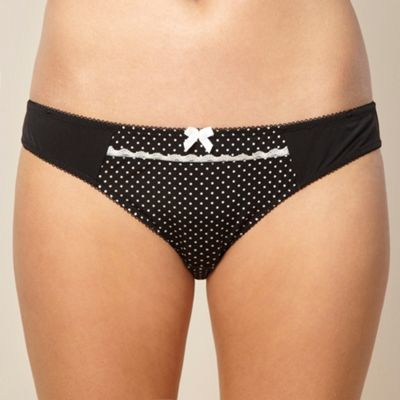 Black dotty lace hipster briefs