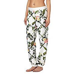 B by Ted Baker - White floral print 'Secret Trellis' pyjama bottoms