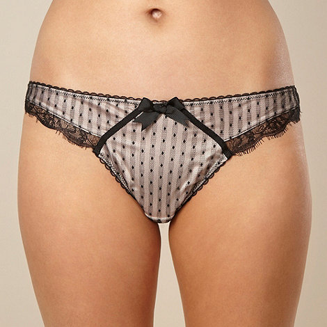 Reger by Janet Reger - Designer black mesh and lace thong