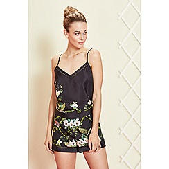 B by Ted Baker - Black floral print 'Secret Trellis' pyjama shorts