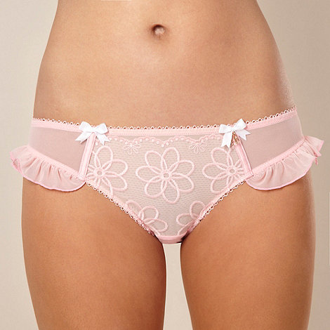 B by Ted Baker - Pink embroidered hipster briefs
