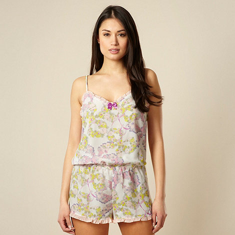 B by Ted Baker - Pink floral pyjama playsuit