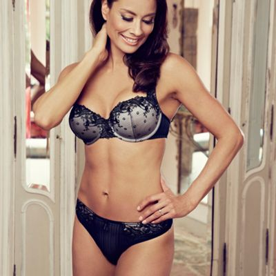 Black Fern balcony bra