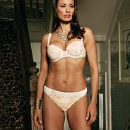 Cream 'Brandy' balcony bra