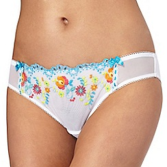 Floozie by Frost French - White floral bikini knickers