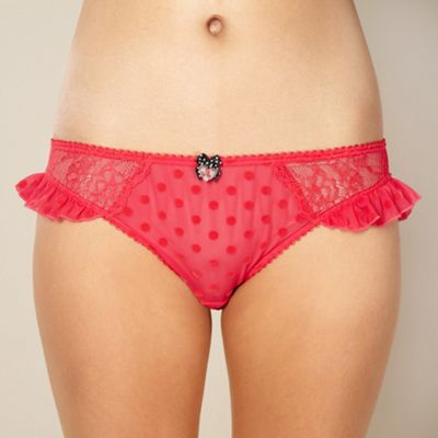Designer red polka dot hipster briefs