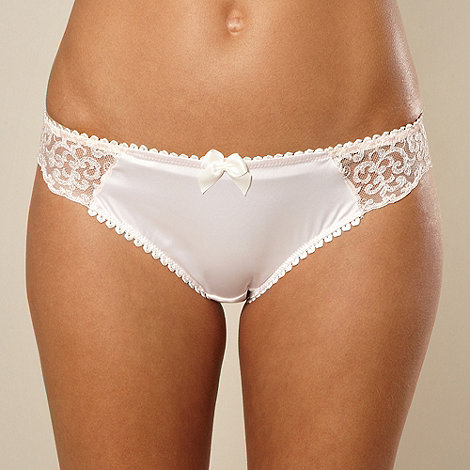 Reger by Janet Reger - Designer pale pink embroidered hipster briefs