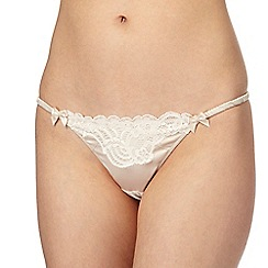 Reger by Janet Reger - Natural lace thong