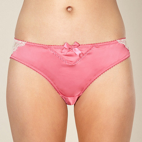 Reger by Janet Reger - Designer pink satin brazilian briefs