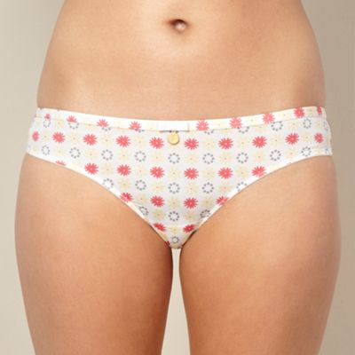 Designer white floral lace brazilian briefs