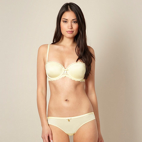 J by Jasper Conran - Designer yellow lace balcony bra