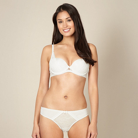 B by Ted Baker - Cream moulded lace balcony bra