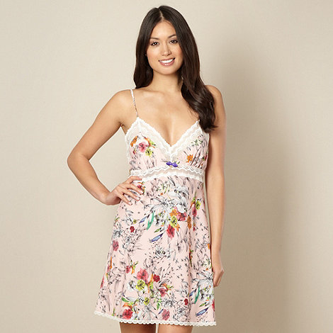 B by Ted Baker - Pink sketched floral print chemise