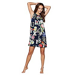 B by Ted Baker - Navy floral print 'Alphabet' nightdress