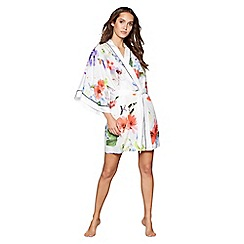 B by Ted Baker - Multi-coloured cotton blend 'Forget Me Not Floral' dressing gown