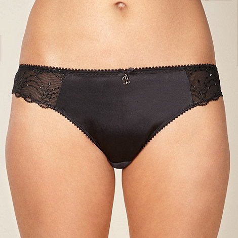 B by Ted Baker - Black embroidered mesh brazilian briefs