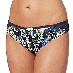 B by Ted Baker - Navy floral print bikini briefs