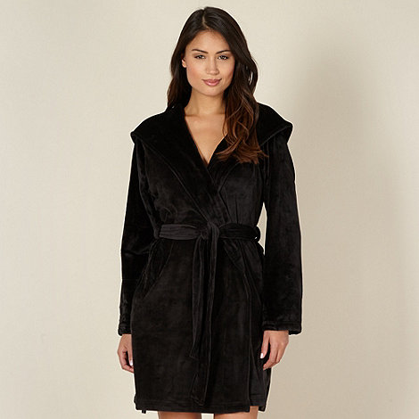 B by Ted Baker - Black moleskin short dressing gown