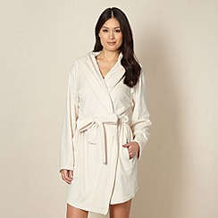 B by Ted Baker - Cream short moleskin dressing gown