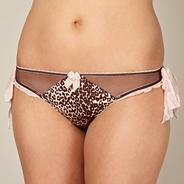 Designer pale pink animal thong