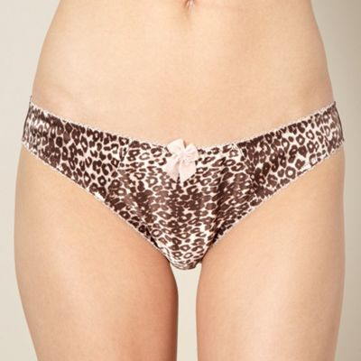 Designer pale pink animal hipster briefs