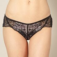 Designer black lace brazilian briefs