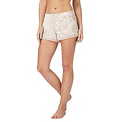 Nine by Savannah Miller - Light pink velvet pyjama shorts