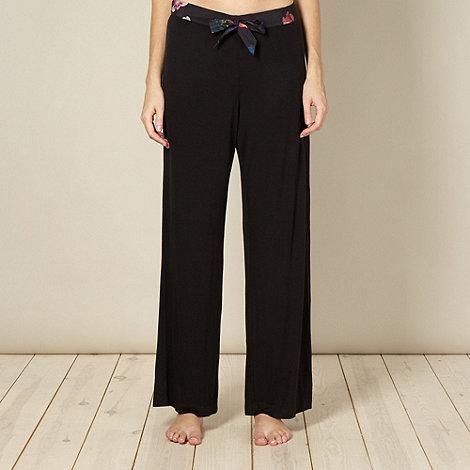 B by Ted Baker - Black rose jersey pyjama bottoms