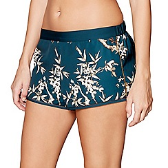 Nine by Savannah Miller - Green bamboo print pyjama shorts