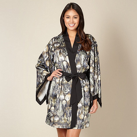 B by Ted Baker - Black chandelier satin kimono