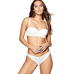 B by Ted Baker - Ivory jacquard satin non-wired padded balcony bra