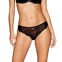 B by Ted Baker - Black embroidered high leg knickers