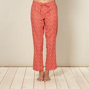 Red woven geometric pyjama bottoms