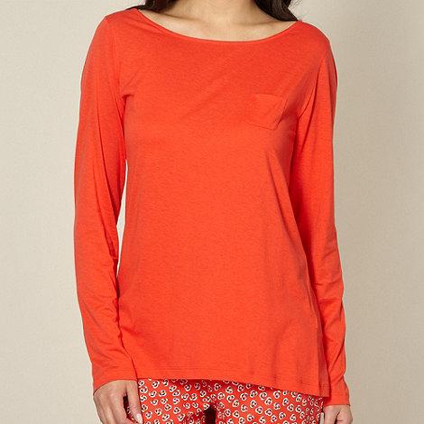 Princesse Tam Tam - Red plain long sleeved pyjama top