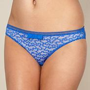 Blue lace bow hipster briefs