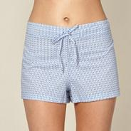 Blue fan pyjama shorts