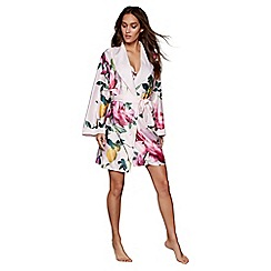B by Ted Baker - Pink floral print satin 'Citrus Bloom' dressing gown