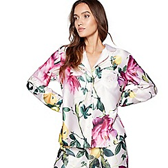 B by Ted Baker - Pink floral print 'Citrus Bloom' long sleeves nightshirt