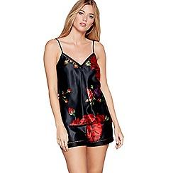 B by Ted Baker - Black floral print satin 'Juxtapose Rose' camisole vest